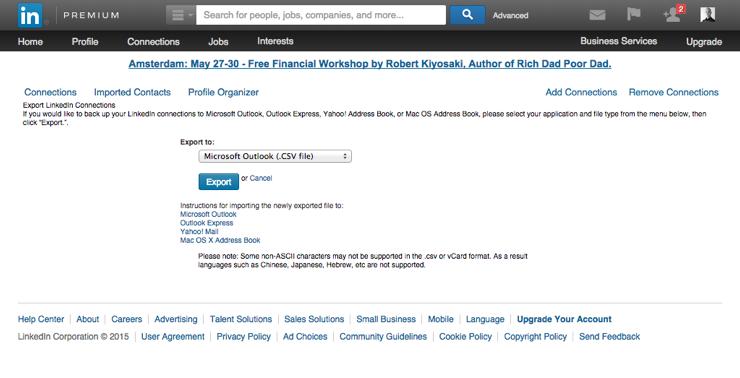 Krachtige LinkedIn features - People Export