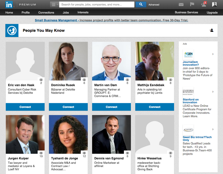 Krachtige LinkedIn features - People You May Know