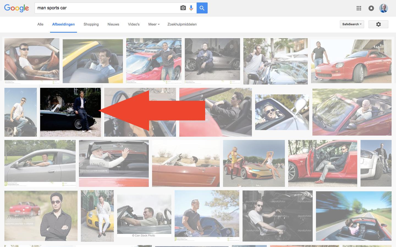 Google - Man sports car