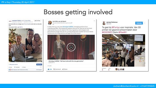 PR is Key - Bosses getting involved